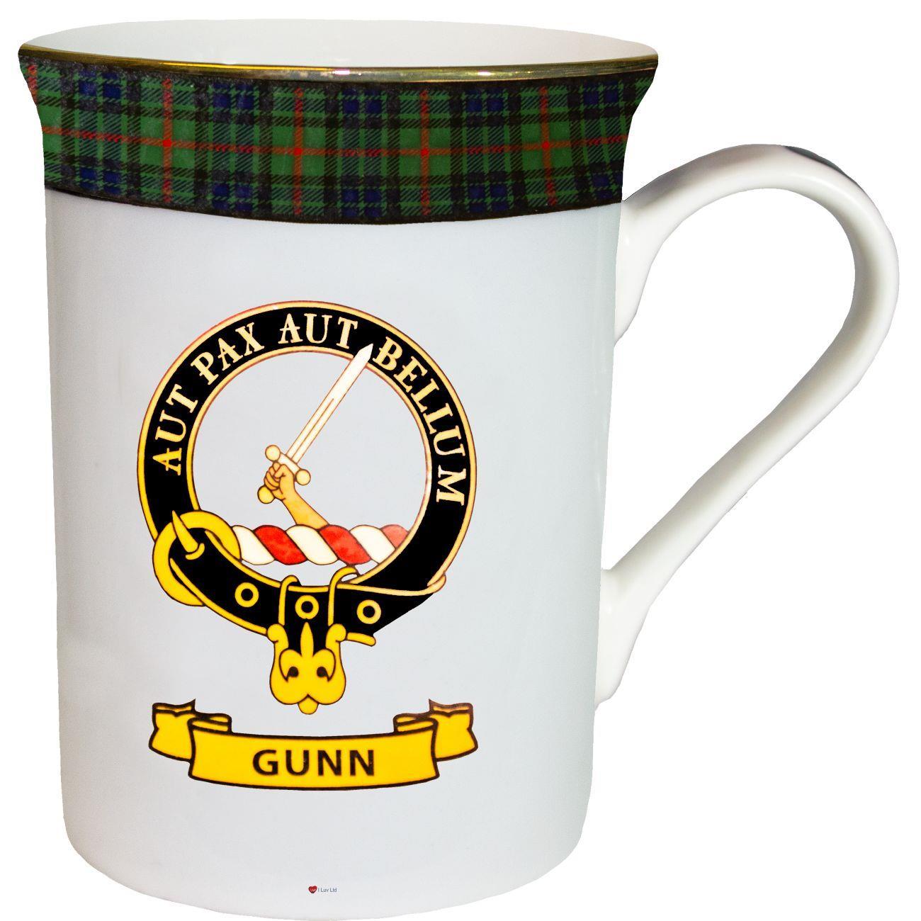 China Tea Mug Gunn Clan Crest Fine Bone Gold Rim Made In Scotland Ebay