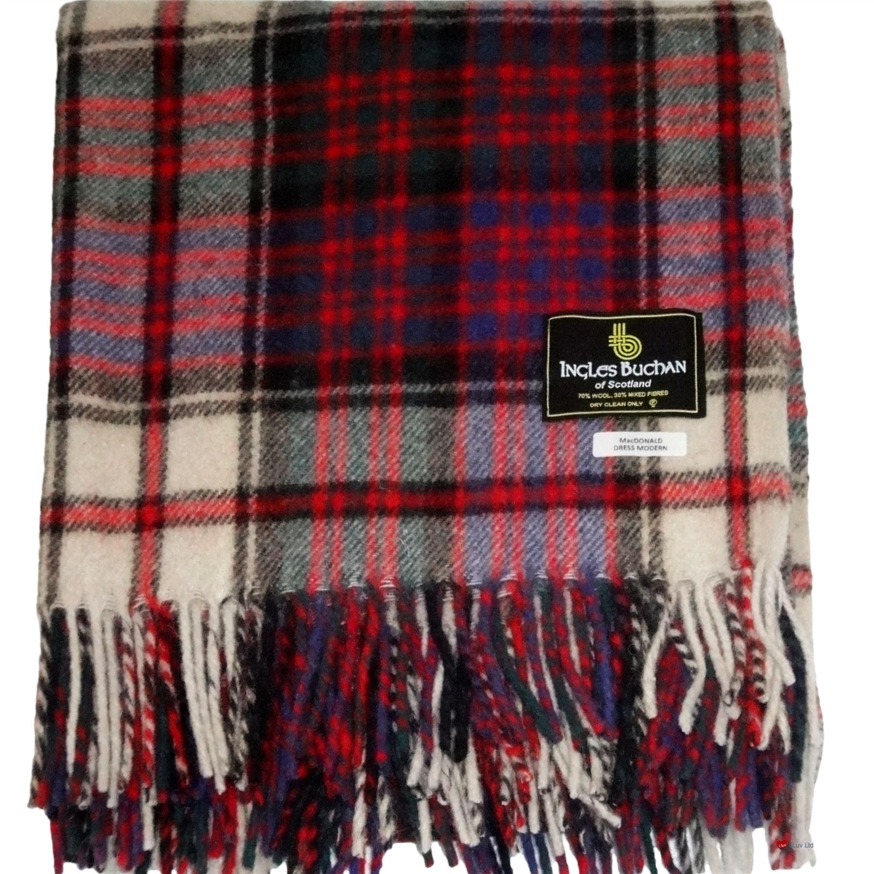 Tartan Blanket Picnic Rug Wool Mix Scottish Anderson Modern Tartan
