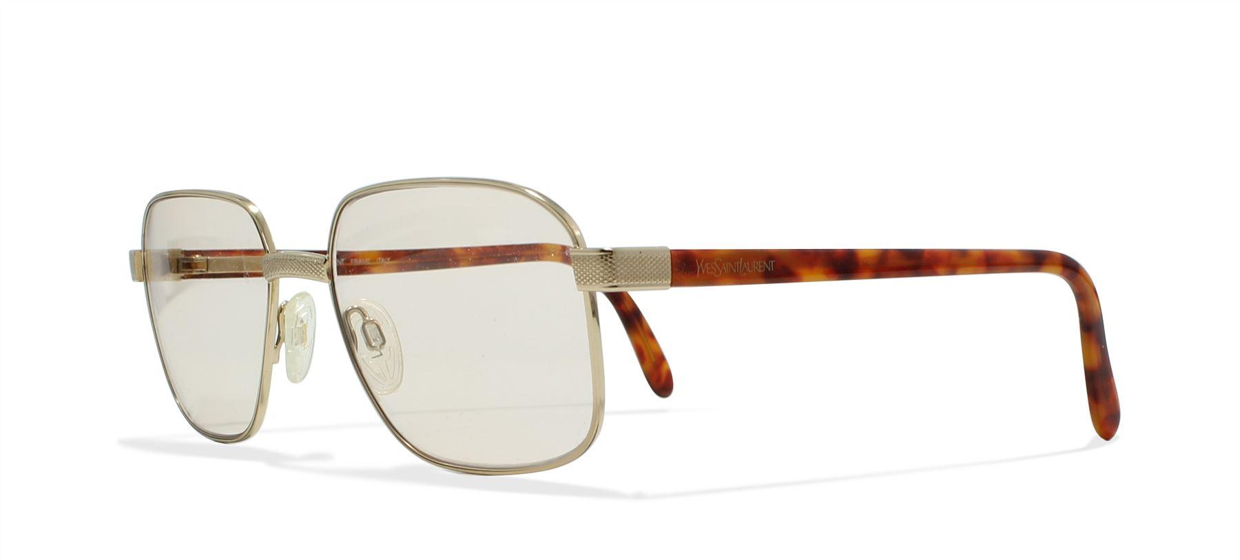 a28d6658a0 Details about Yves Saint Laurent 4032 Y101 Gold Vintage Sunglasses Square  For Men and Women