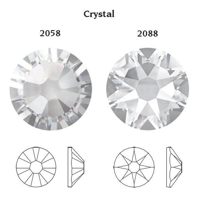 Genuine-SWAROVSKI-Crystals-2058-amp-2088-Foiled-Flat-Back-Rhinestones-All-Colors