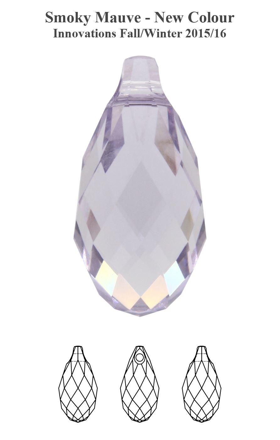 Original-SWAROVSKI-6010-Briolette-Colgantes-Cristales-Todo-Colores-amp-Tamanos