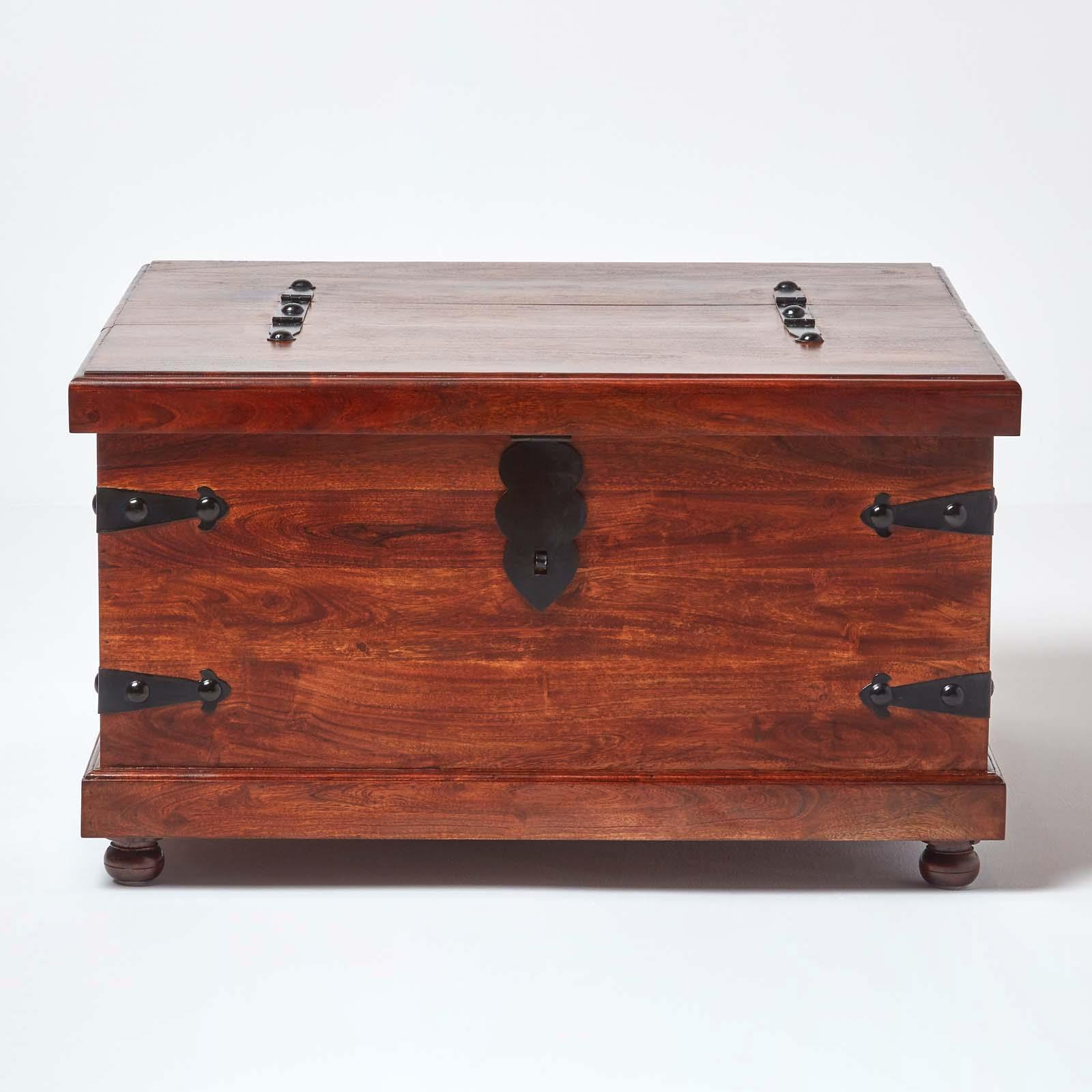 Homescapes Takhat Large Square Coffee Table Trunk 5055967435155 Ebay
