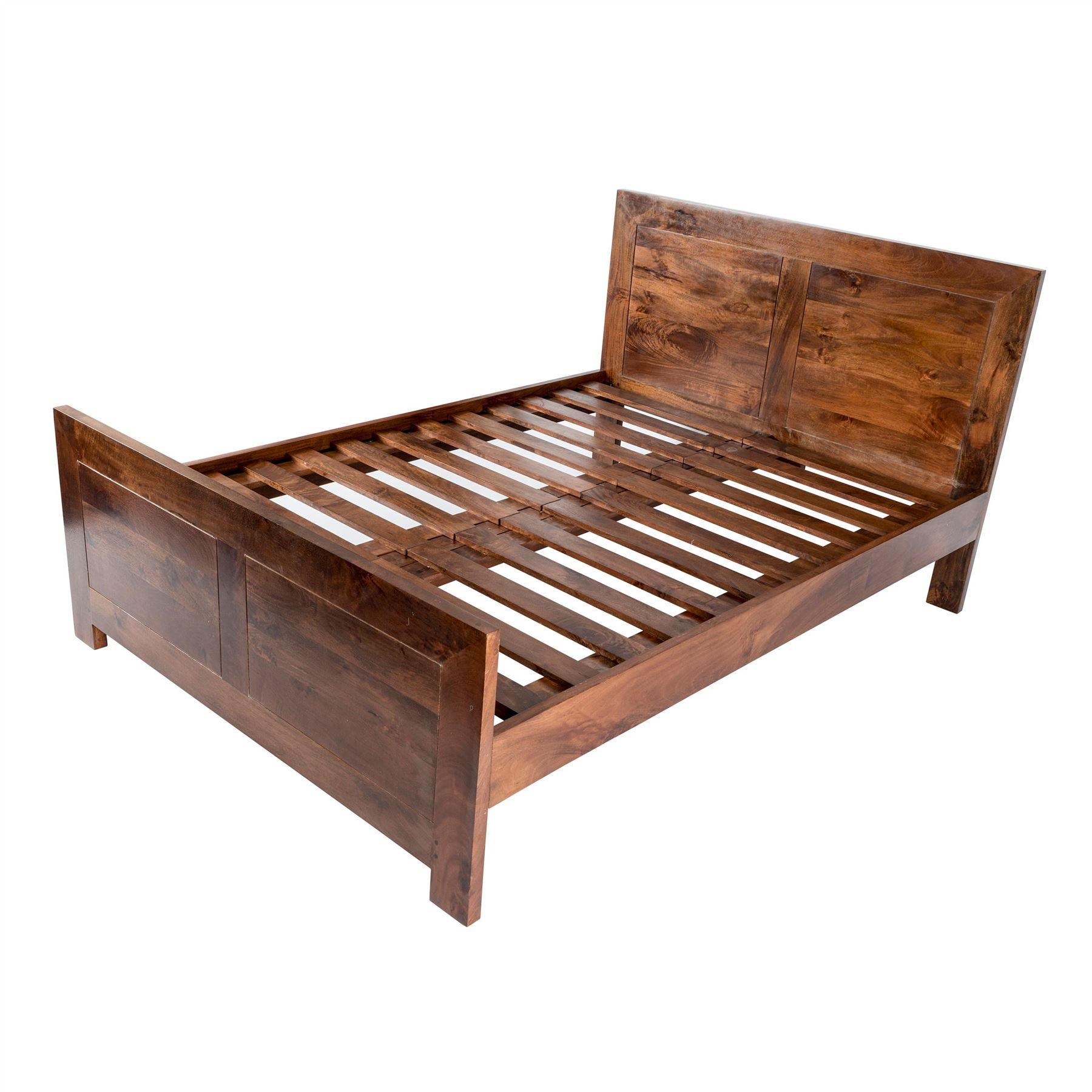 Dakota dark oak bed frame single double king super for Divan 506