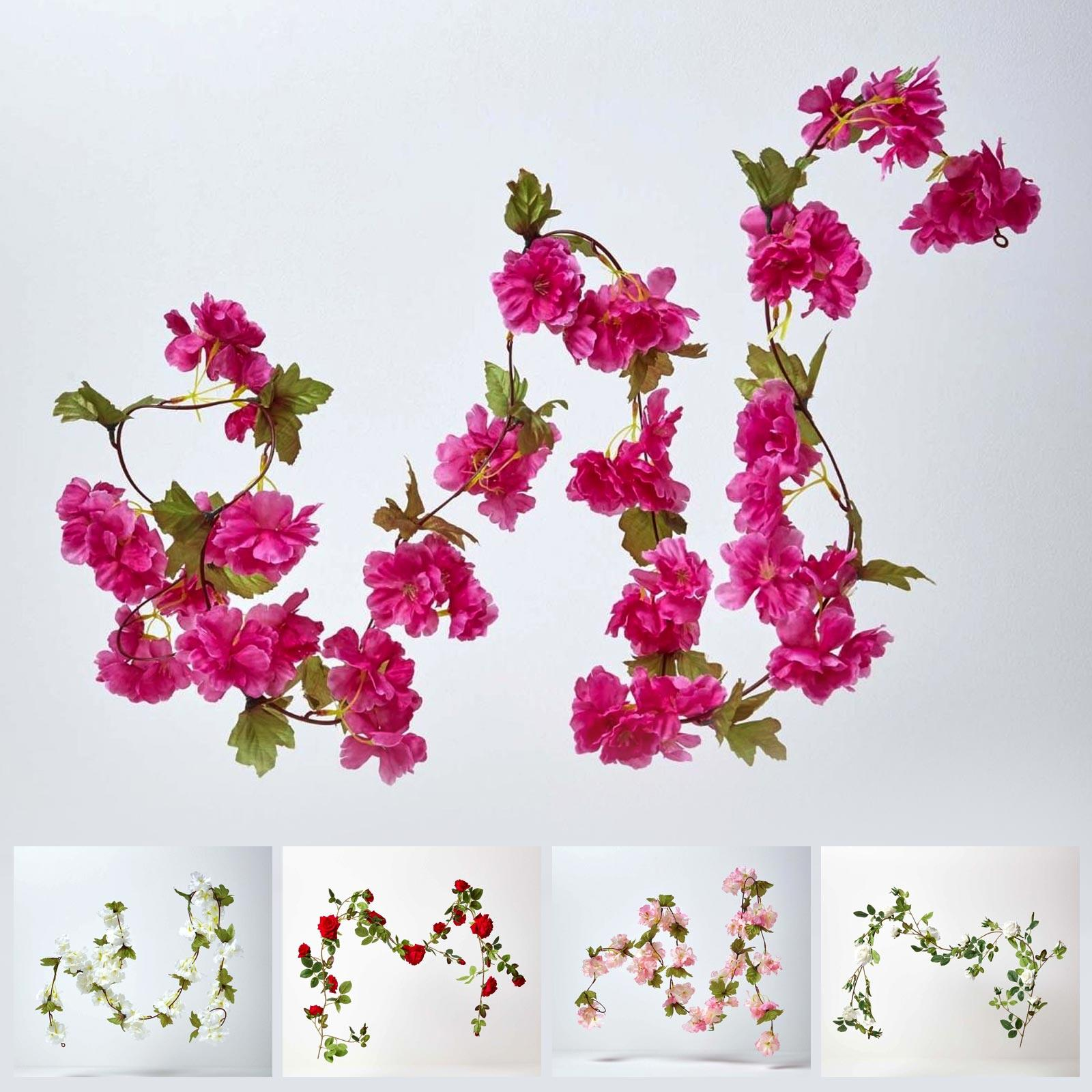 Artificial Garland With Flowers For Indoor Wedding Party Decoration Ebay