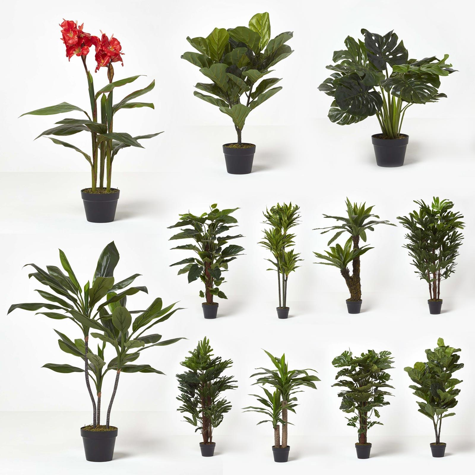 Artificial Trees with Faux Moss Realistic Plant for Home ...