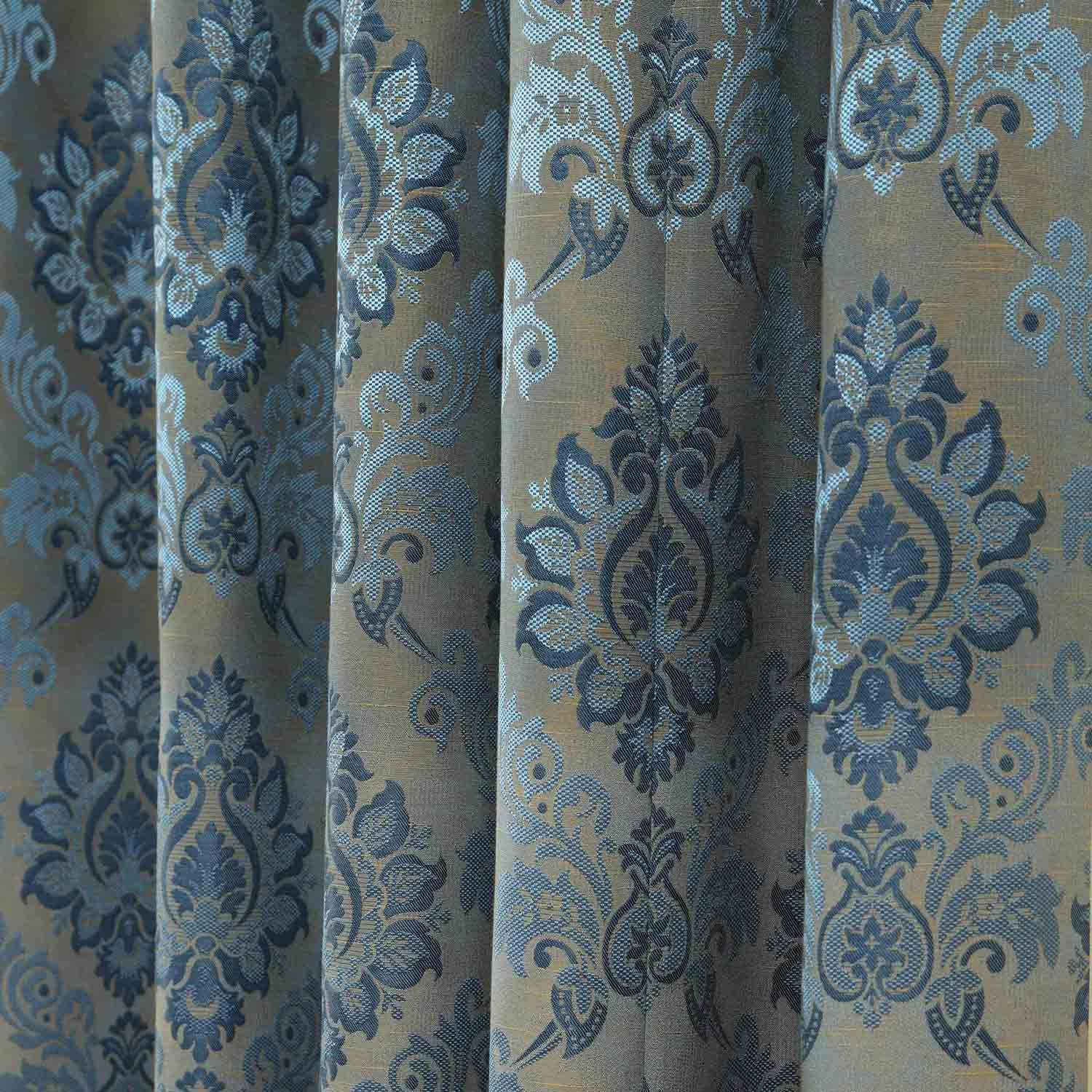 Pencil Pleat Fully Lined Ready Made Jacquard Damask