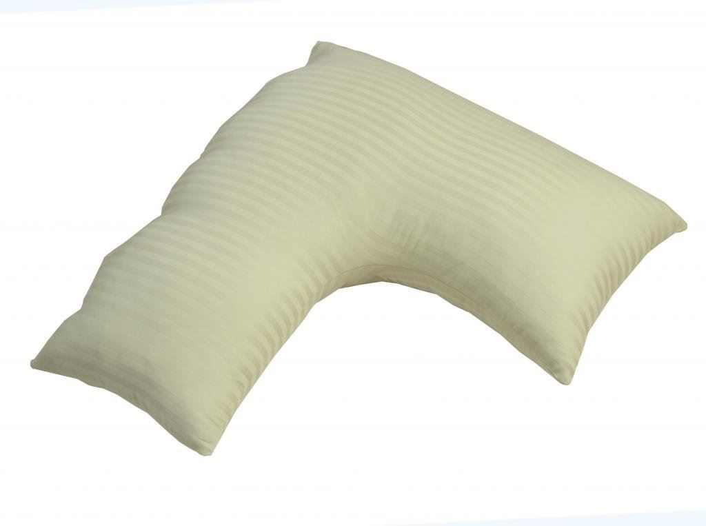 Egyptian Cotton V Shaped Pillow Cases Luxury 40 TC Satin Striped Unique Covers For V Shaped Pillows