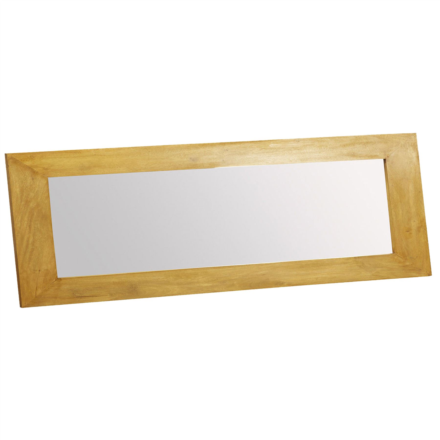 Dakota Solid Wood Frame Mirrors Oak Shade Overmantle Small, Large ...