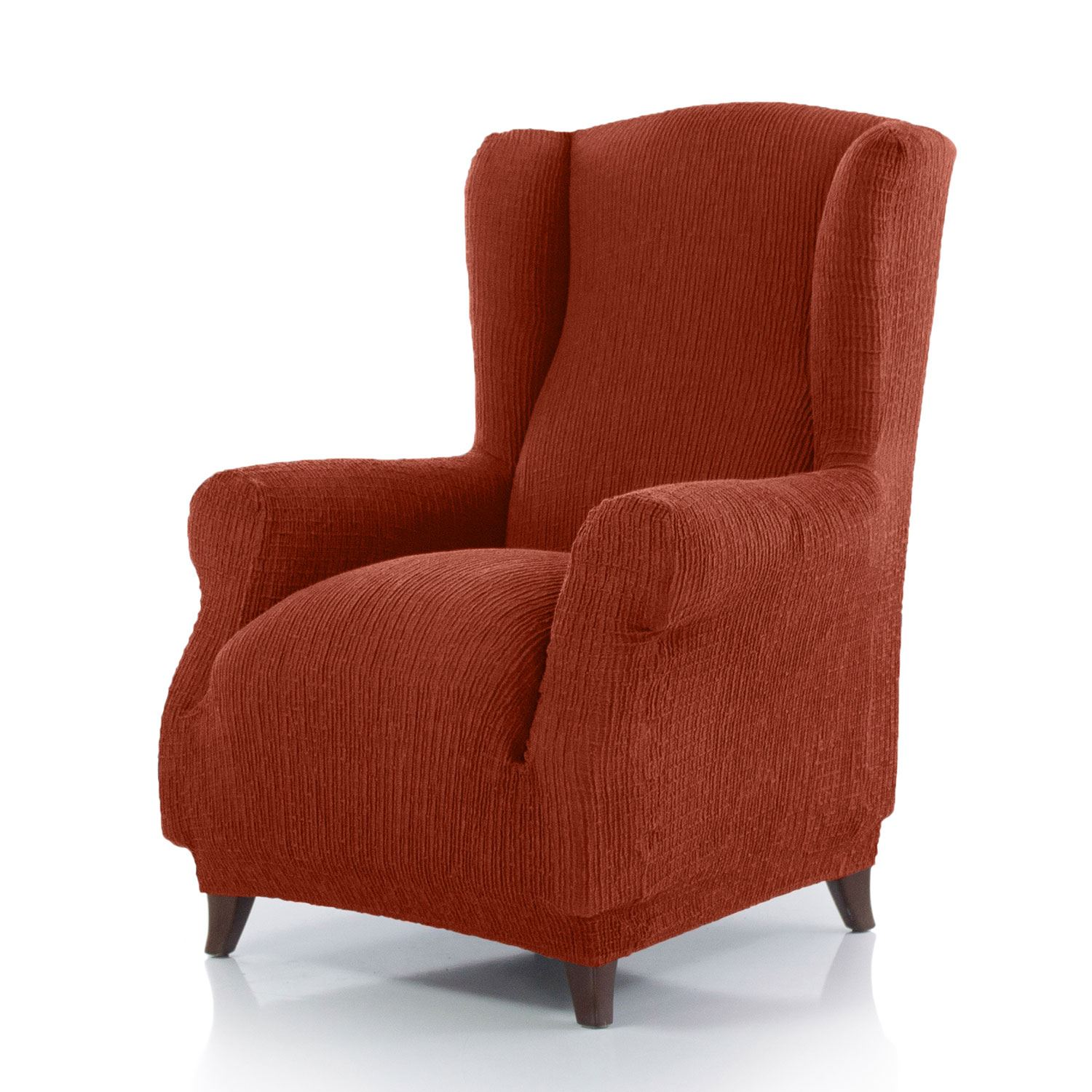 Winged Seat Stretch Armchair Cover Washable Elasticated ...