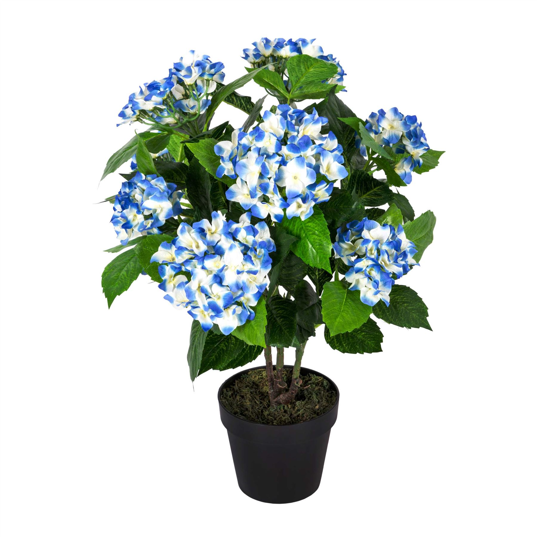 Hydrangea artificial plant with pot for home office indoor for Artificial plants indoor decoration