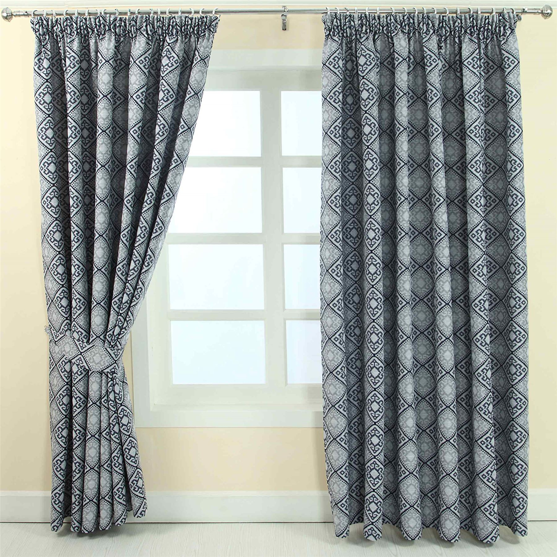 floral contemporary bluebellgray botanical rmc living designs curtains ready curtain made