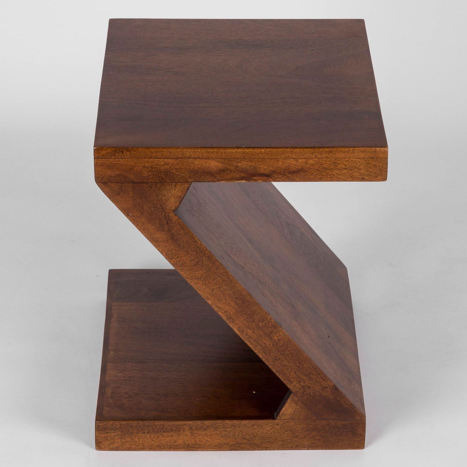 Dakota quot z shaped side end table handcrafted solid