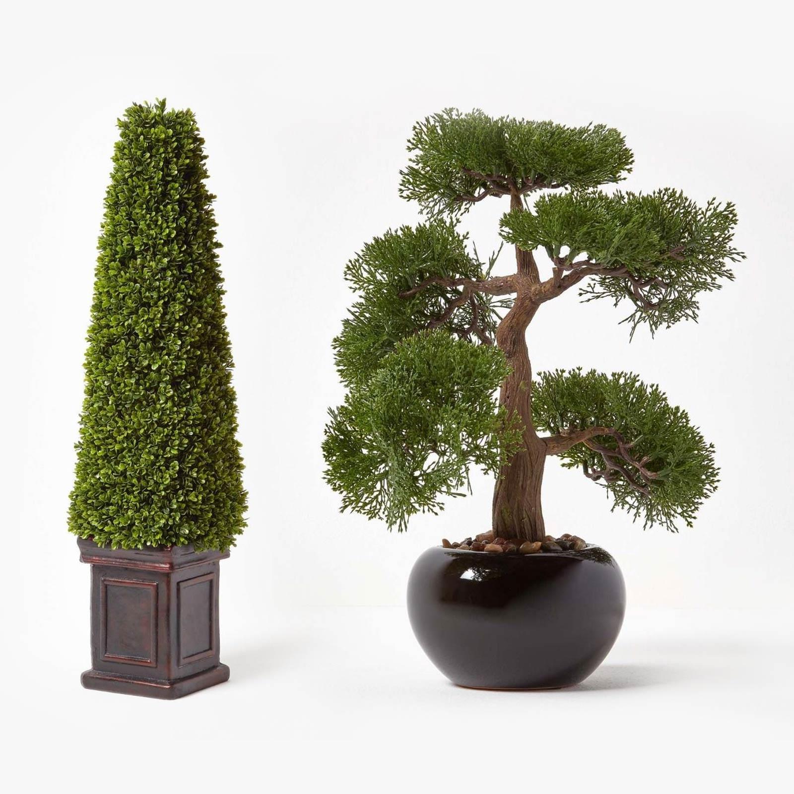 Artificial Potted Ornament Topiary Ball Shape Bonsai Fake Plant Home Decor Ture