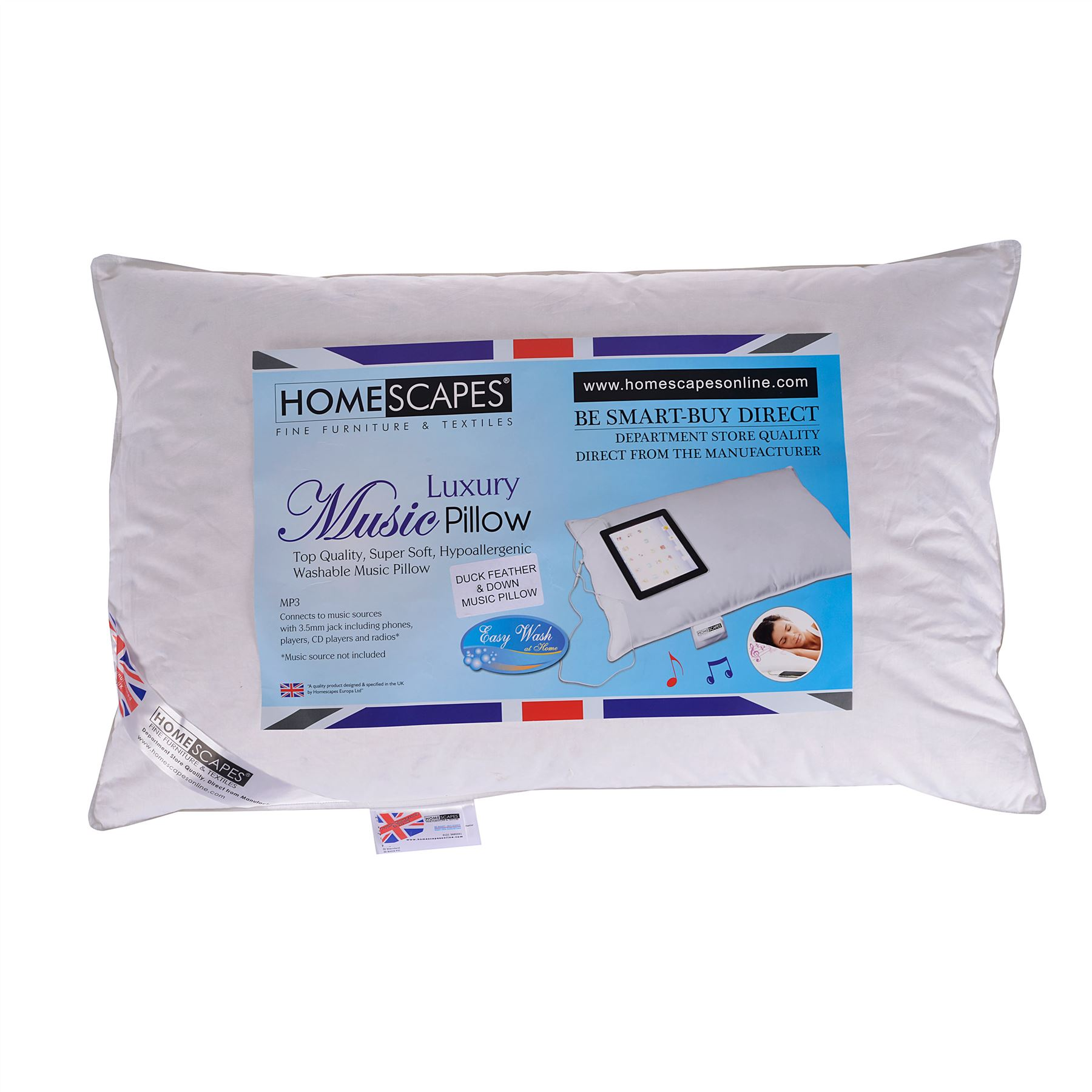 Get Sound Asleep With Homescapes Washable Music Pillows
