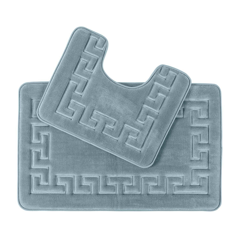 Memory Foam Bath Mat Set Shower Mat Non Slip Backing
