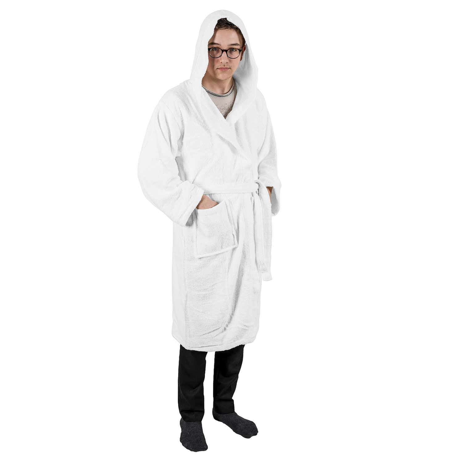 ... Cotton Unisex Bathrobe Terry Towelling Soft Dressing Gown White Xx-large.  About this product. Picture 1 of 7  Picture 2 of 7  Picture 3 of 7  Picture  4 ... eb07d7801