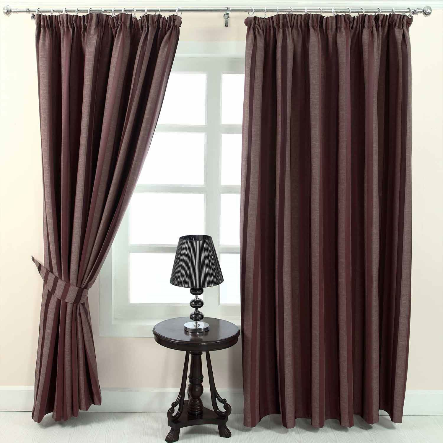 Blue And Brown Striped Curtains Wonderful Home Design