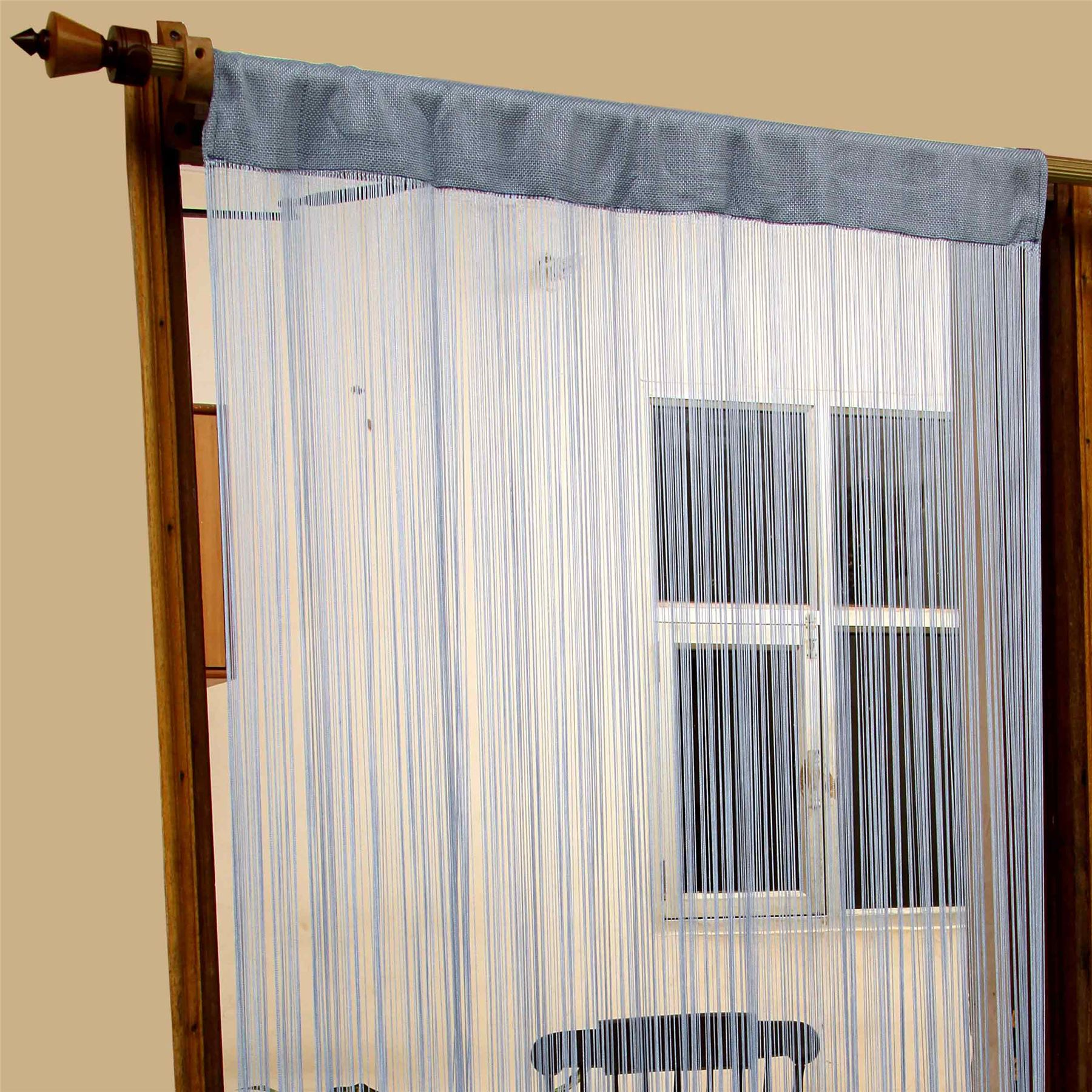 Heavy Weight String Curtains 90x200cm Fly Screen Room Door