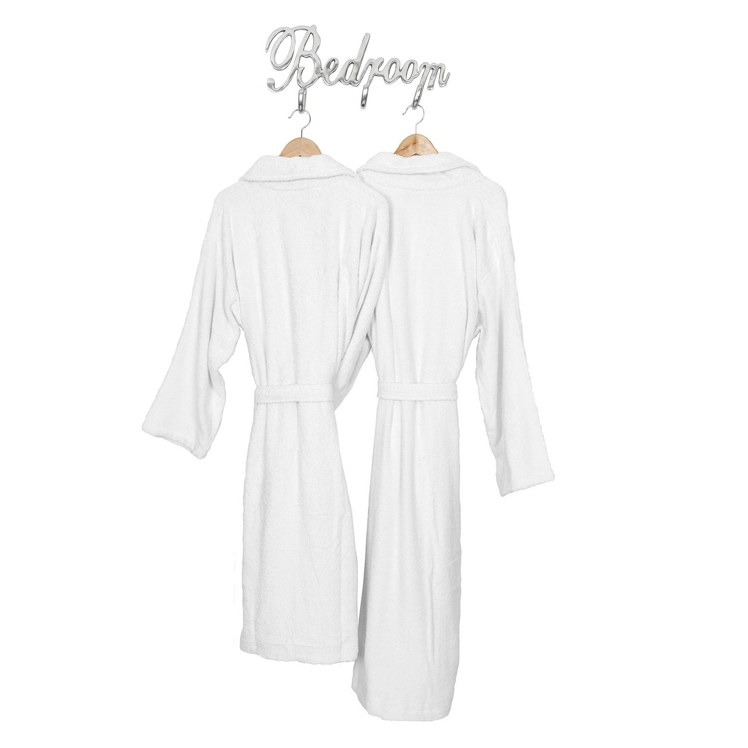 fd8898d83c Men Women Shawl Collar Bathrobe Egyptian Cotton Terry Towelling ...