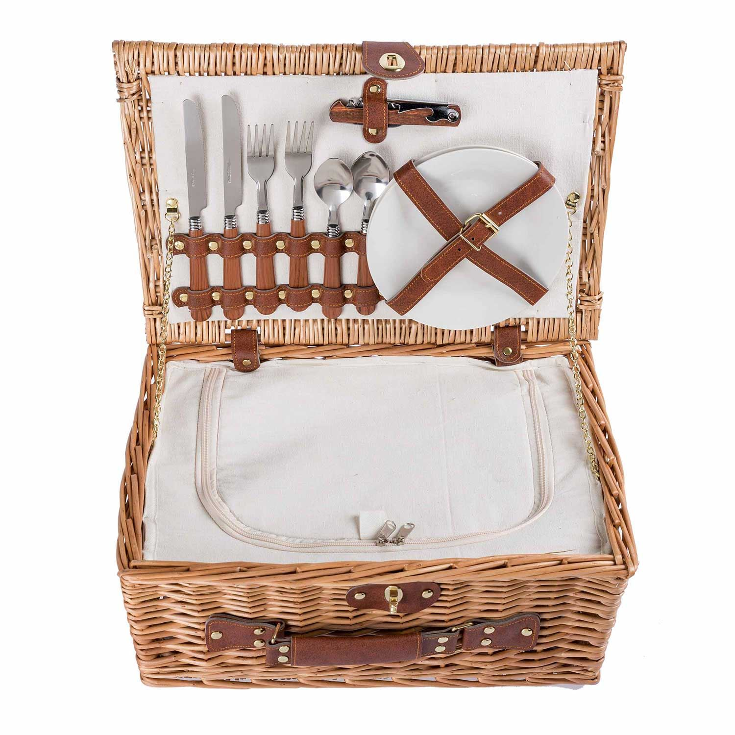 Laundry Wicker Basket Cotton Lining With Lid Home Bathroom ...