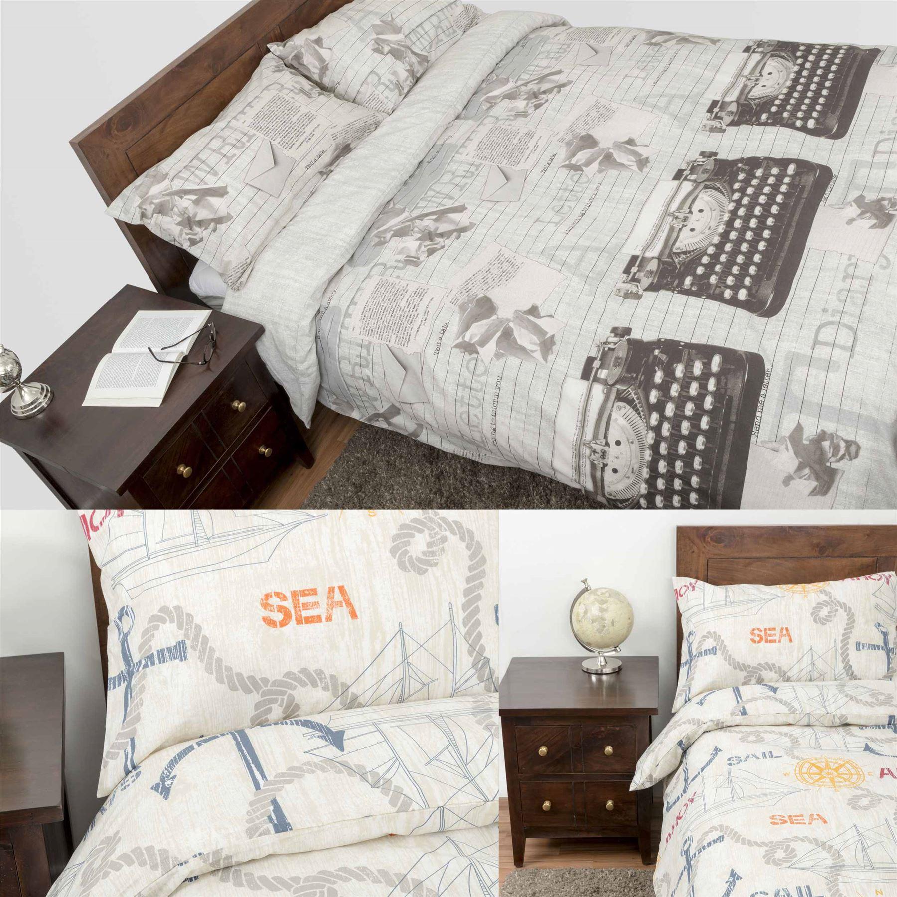 Duvet Cover With Pillowcase Printed Design Nautical