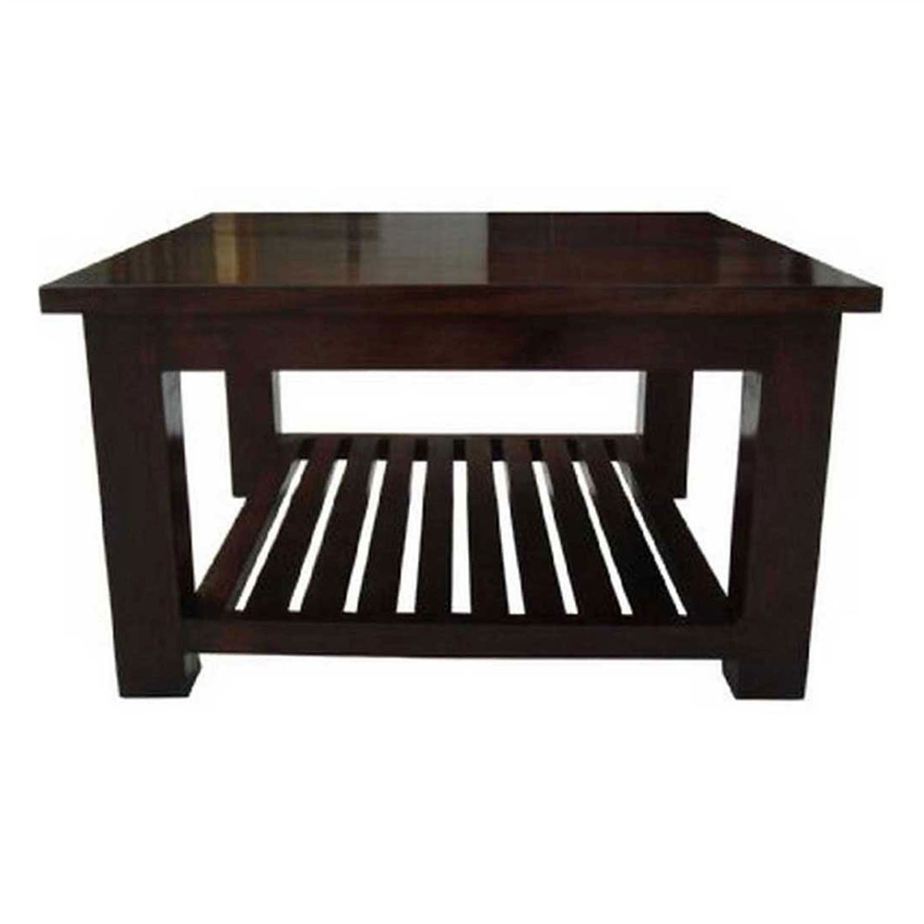 Mangat Solid Dark wood Indian Furniture TV Unit, Table Bookcase ...