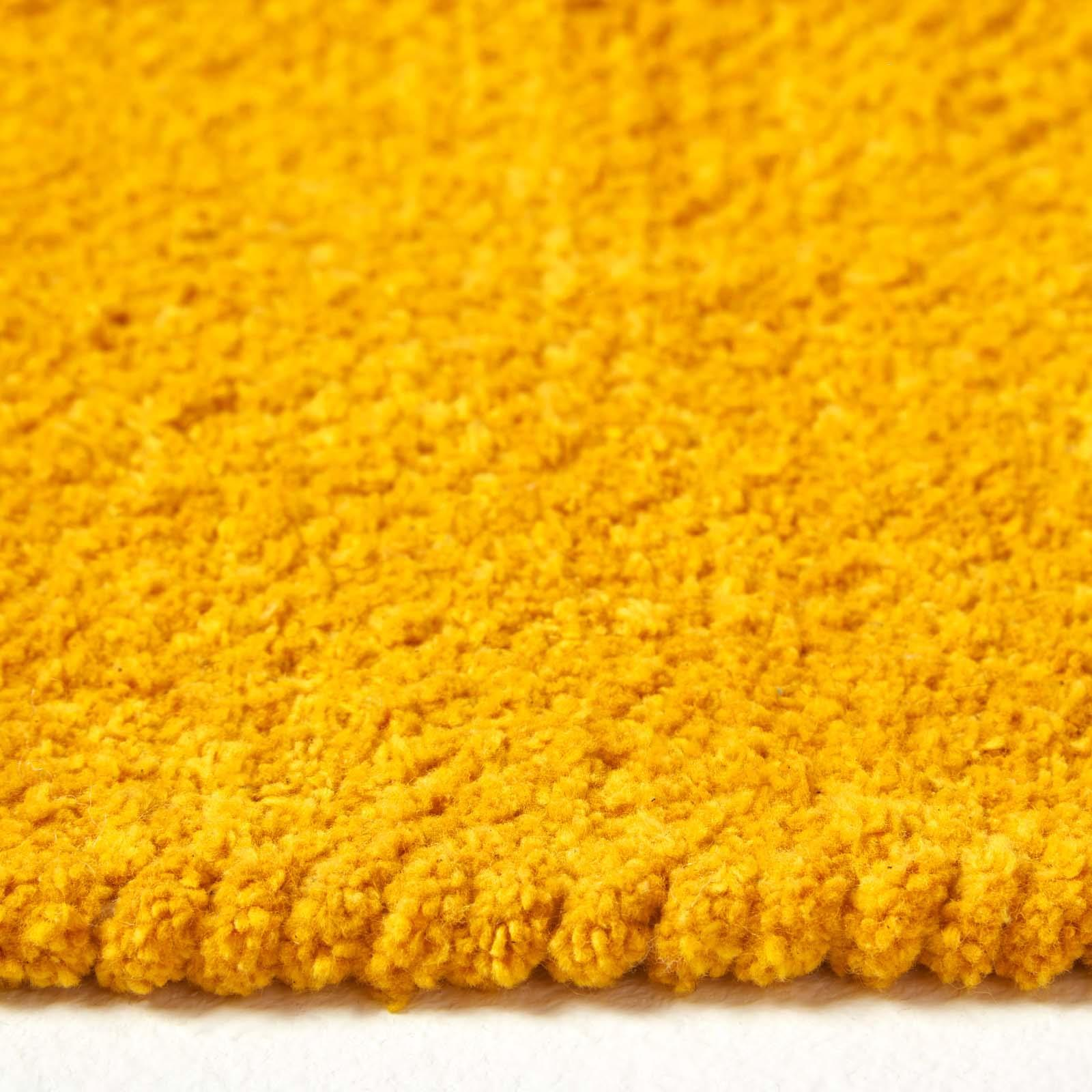 100/% Cotton Plain Chenille Hall Runners Soft Rugs// Mats with Natural Trim Finish