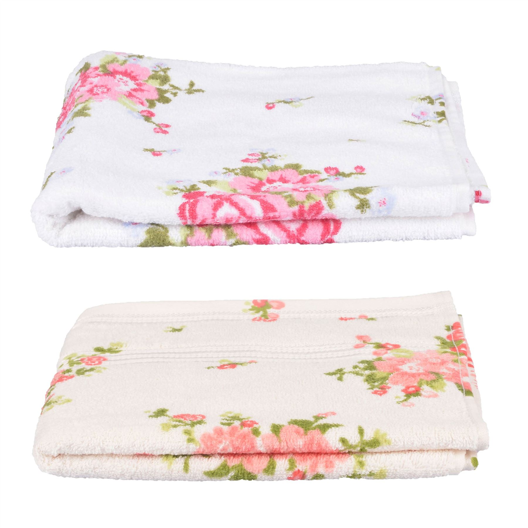 Rose Floral Printed 100 Cotton Face Hand Bath Towel
