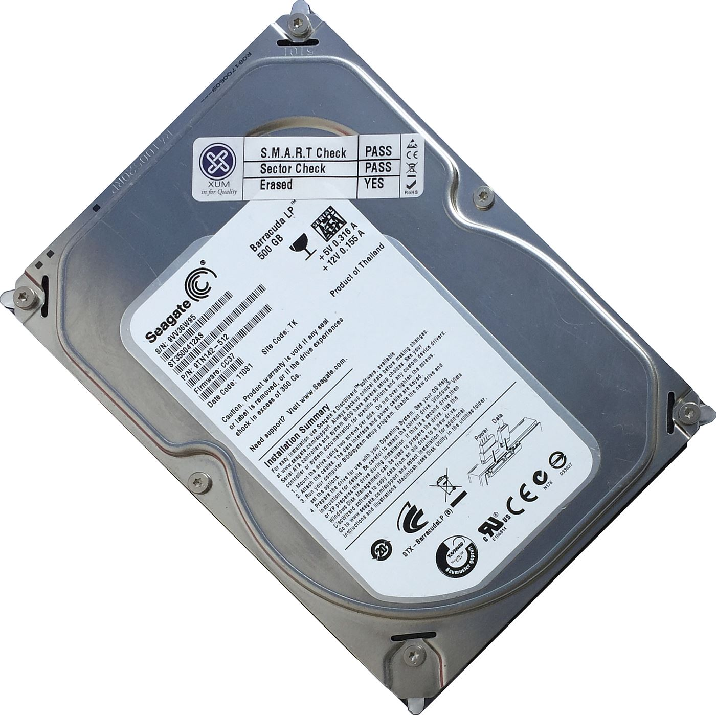 500GB-3-5-034-SATA-Hard-Drive-Internal-HDD-DESKTOP-COMPUTER-PC-CCTV-DVR-DISK-LOT miniatuur 8