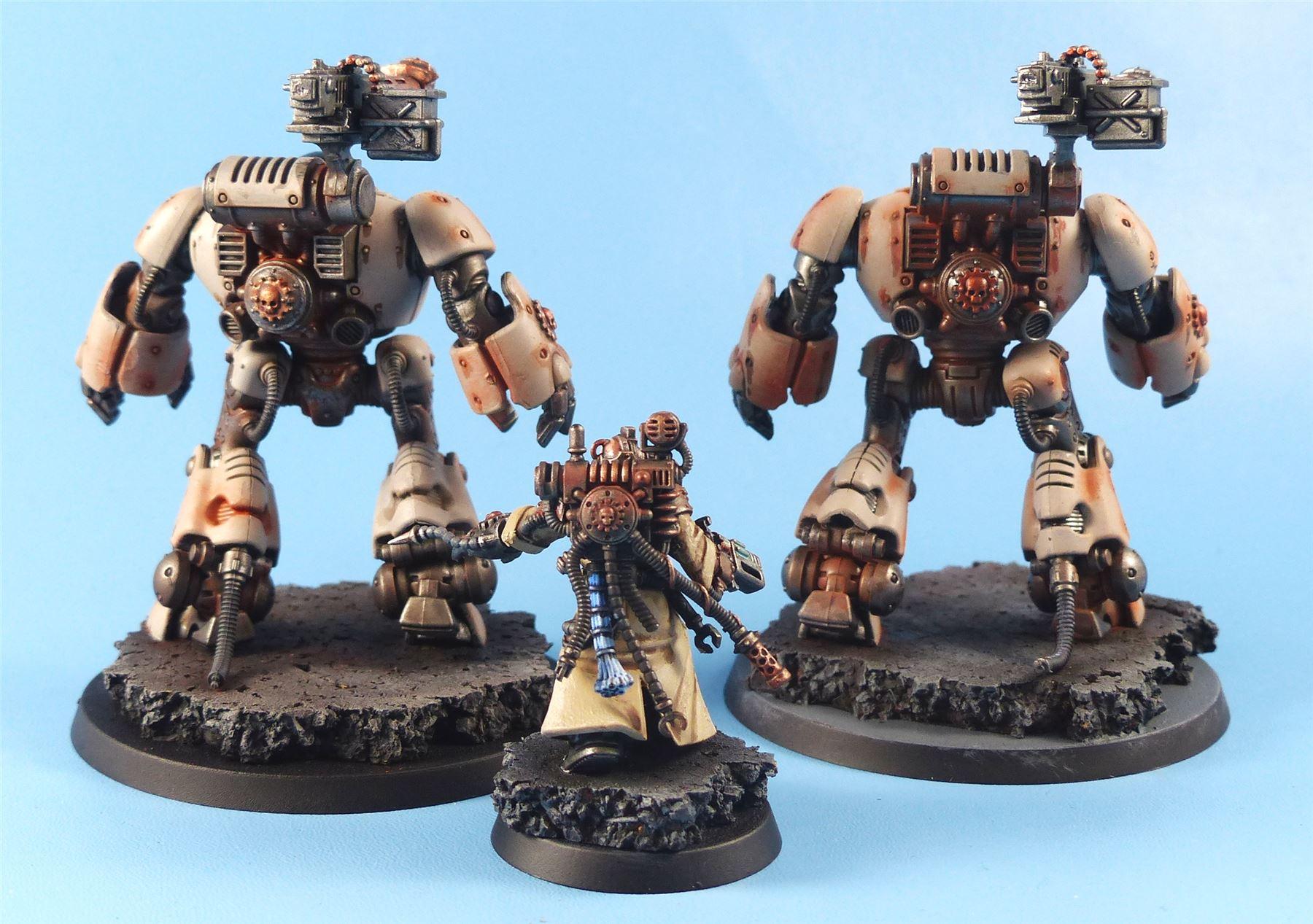Kastellan-Robots-Painted-Adeptus-Dark-Mechanicus-Warhammer-40k-4B86 thumbnail 2