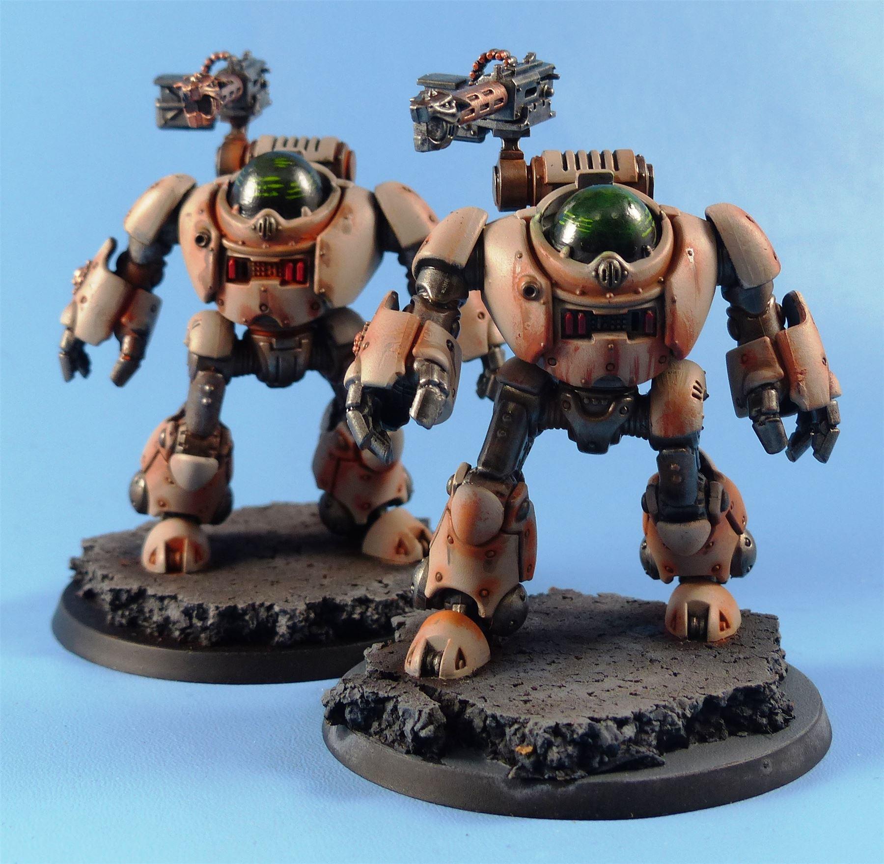 Kastellan-Robots-Painted-Adeptus-Dark-Mechanicus-Warhammer-40k-4B86 thumbnail 5