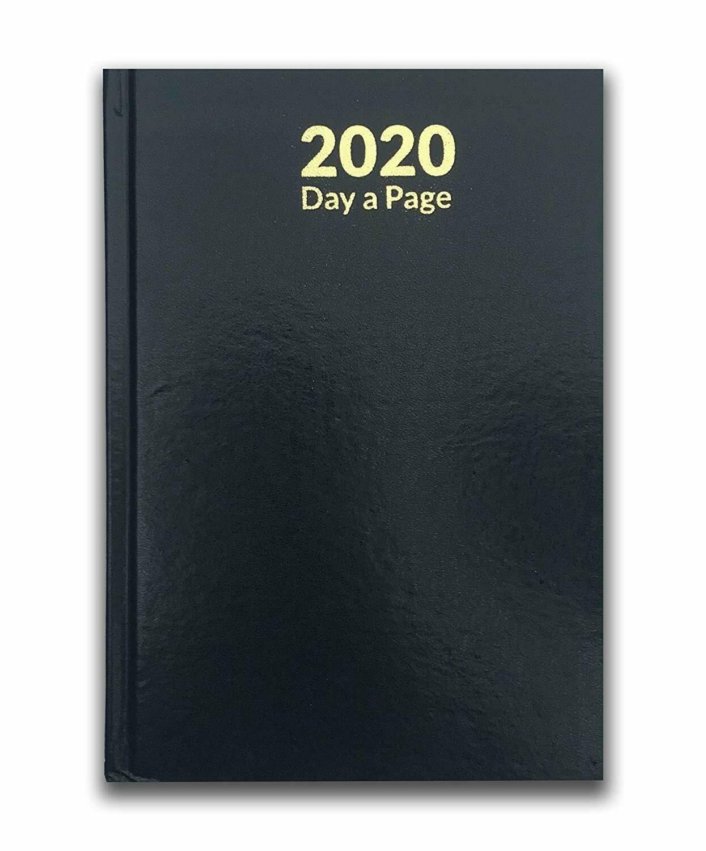 Pagina-de-A4-A5-2020-un-dia-semana-para-ver-diario-diario-de-cubierta-dura-Blancas miniatura 11