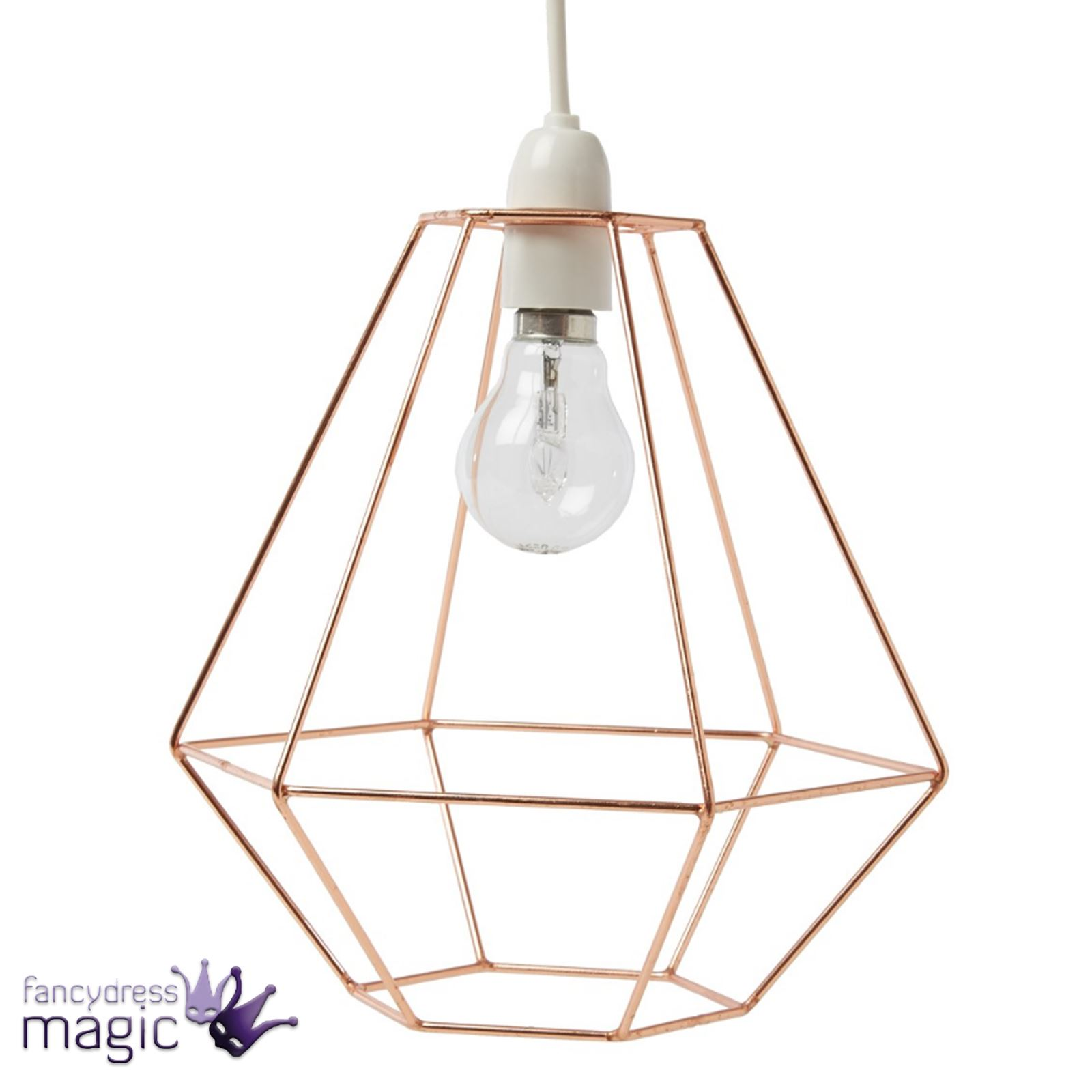 Geometric wire lampshade wire center sass belle copper wire diamond lampshade light hanging geometric rh ebay co uk lamp shade wire frames chicken wire lamp shade keyboard keysfo Gallery