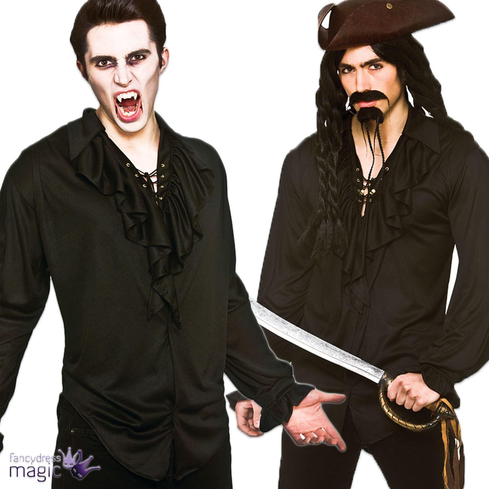 Hombre Adulto Pirata Drcula Vampiro Nuevo Romntico negro Disfraz