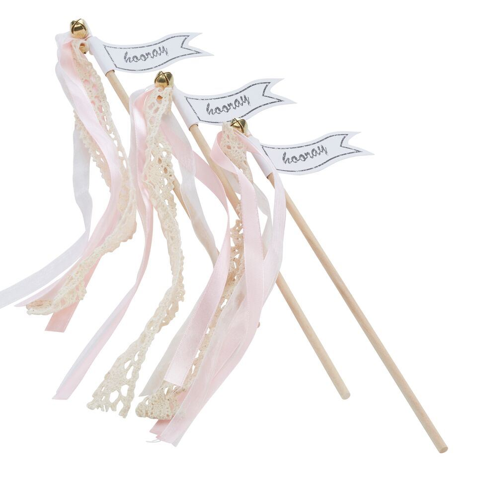 Ginger ray light pink vintage wedding wands confetti for Wedding wands