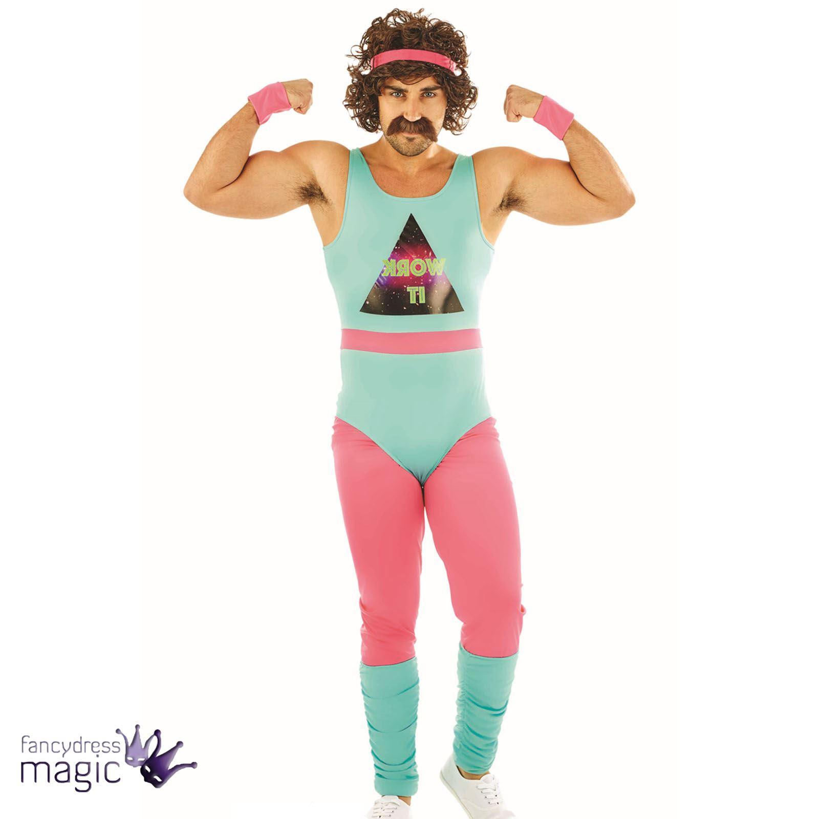 Adults-Mens-80s-Fitness-Instructor-Mr-Motivator-Aerobics-  sc 1 st  eBay & Adults Mens 80s Fitness Instructor Mr Motivator Aerobics Fancy Dress ...