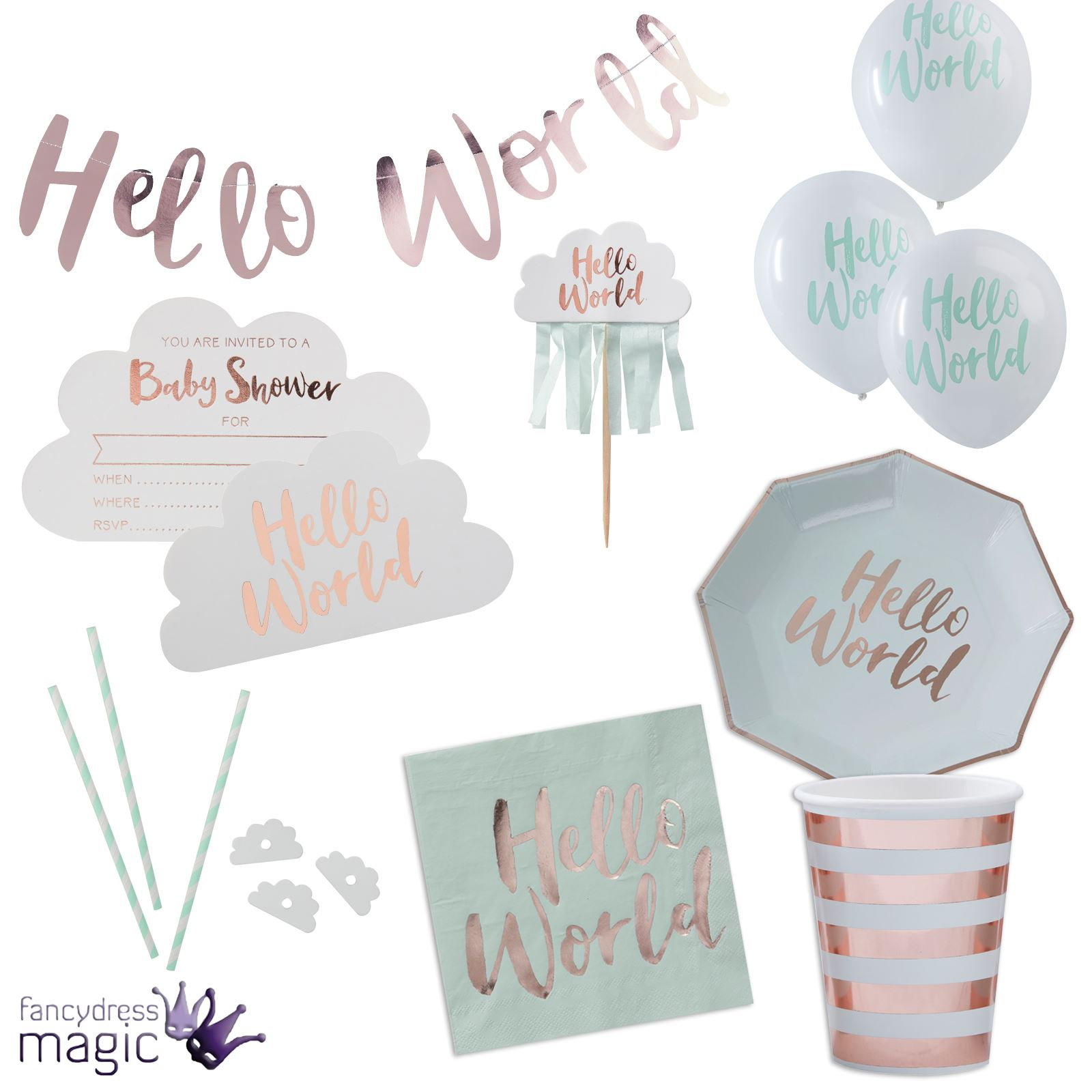Hello World: Ginger Ray Hello World Baby Shower Gender Reveal Party