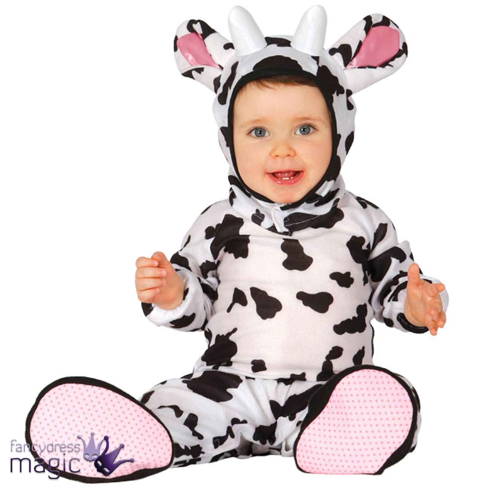 Boys Girls Baby Toddler Cow Farm Animal Book Daisy Fancy Dress