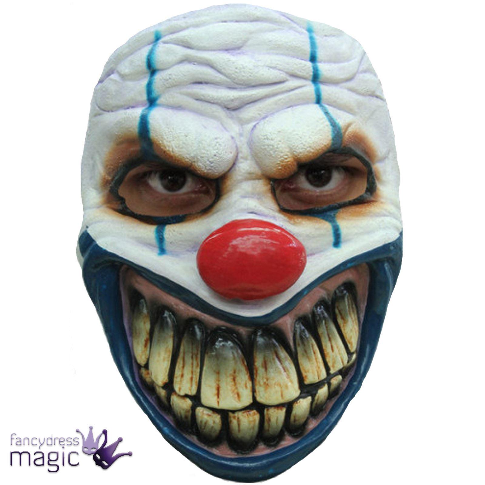 miedo edulto Horror boca grande Disfraz Látex Payaso Malvado Máscara ...