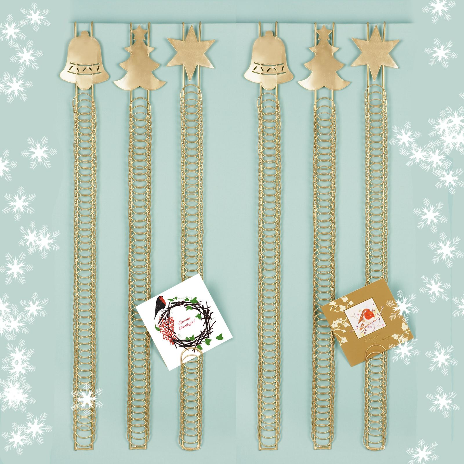 90cm 50 Card Over Door Card Holder Xmas Christmas Hanging Wire Home ...