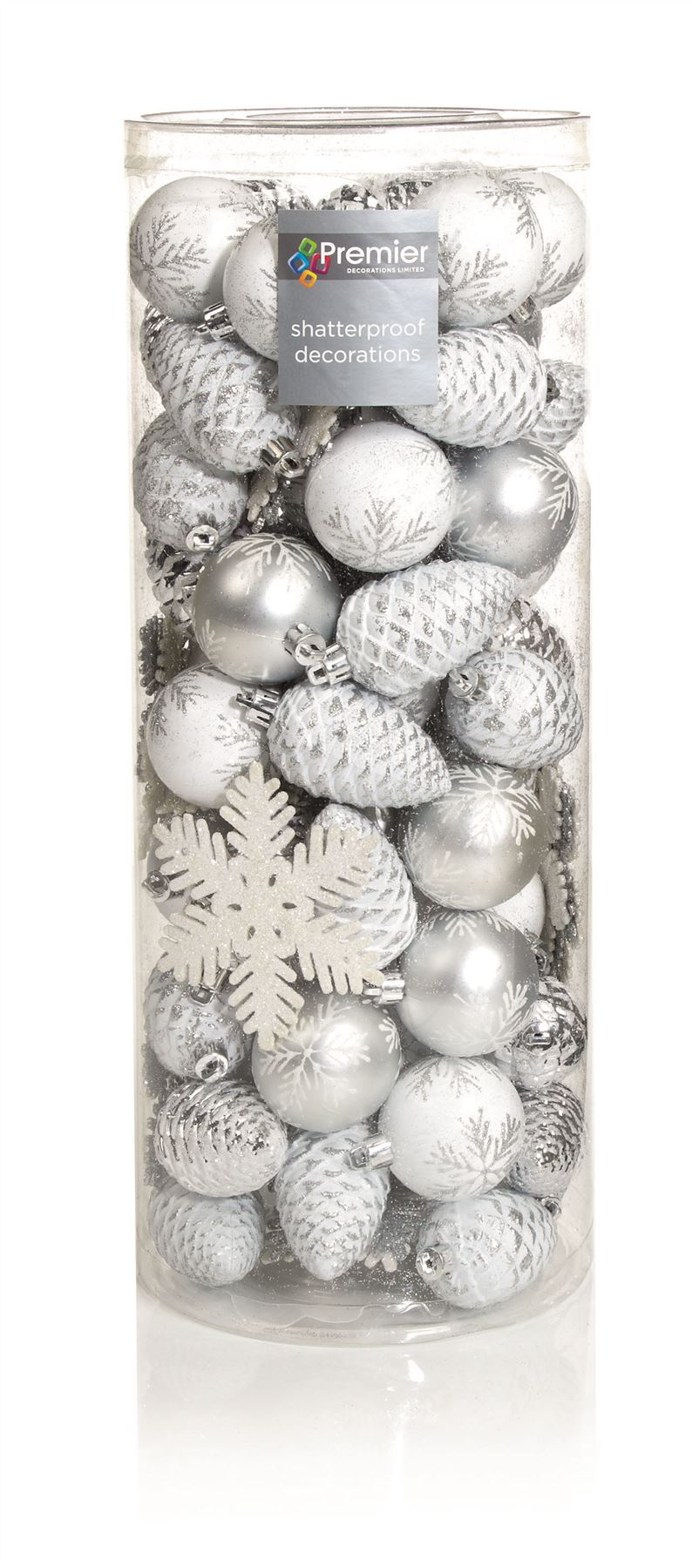 84 Piece Christmas Xmas Bauble Nordic Pine Cone Mixed Tree Hanging ...