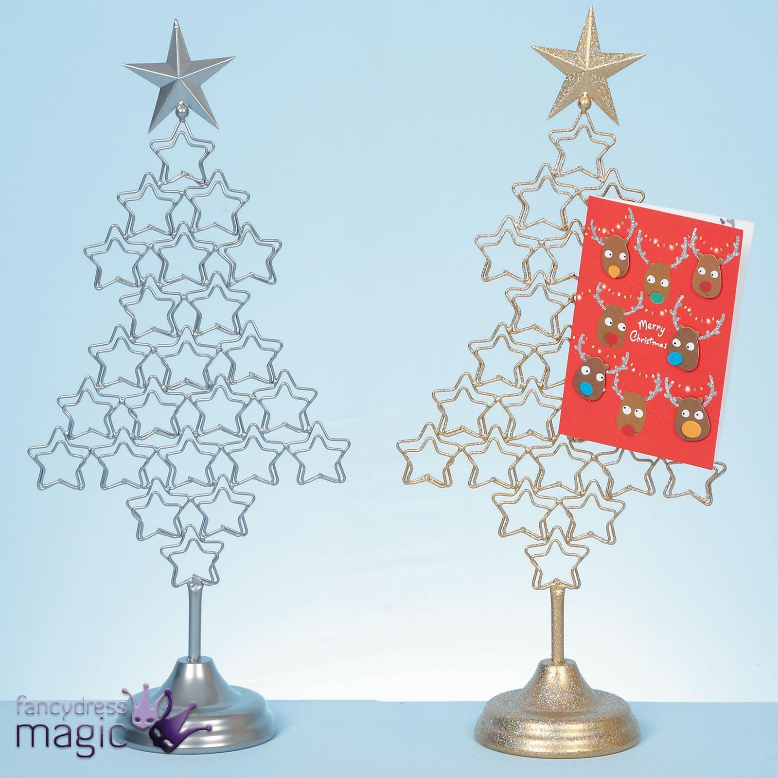 Metal cm christmas tree card holder xmas freestanding