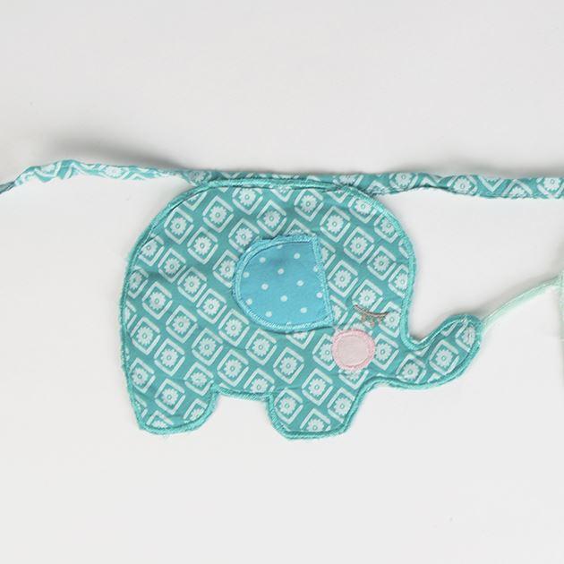 Sass belle wandleuchte stoff elefant fahnentuch girlande - Wandleuchte baby ...