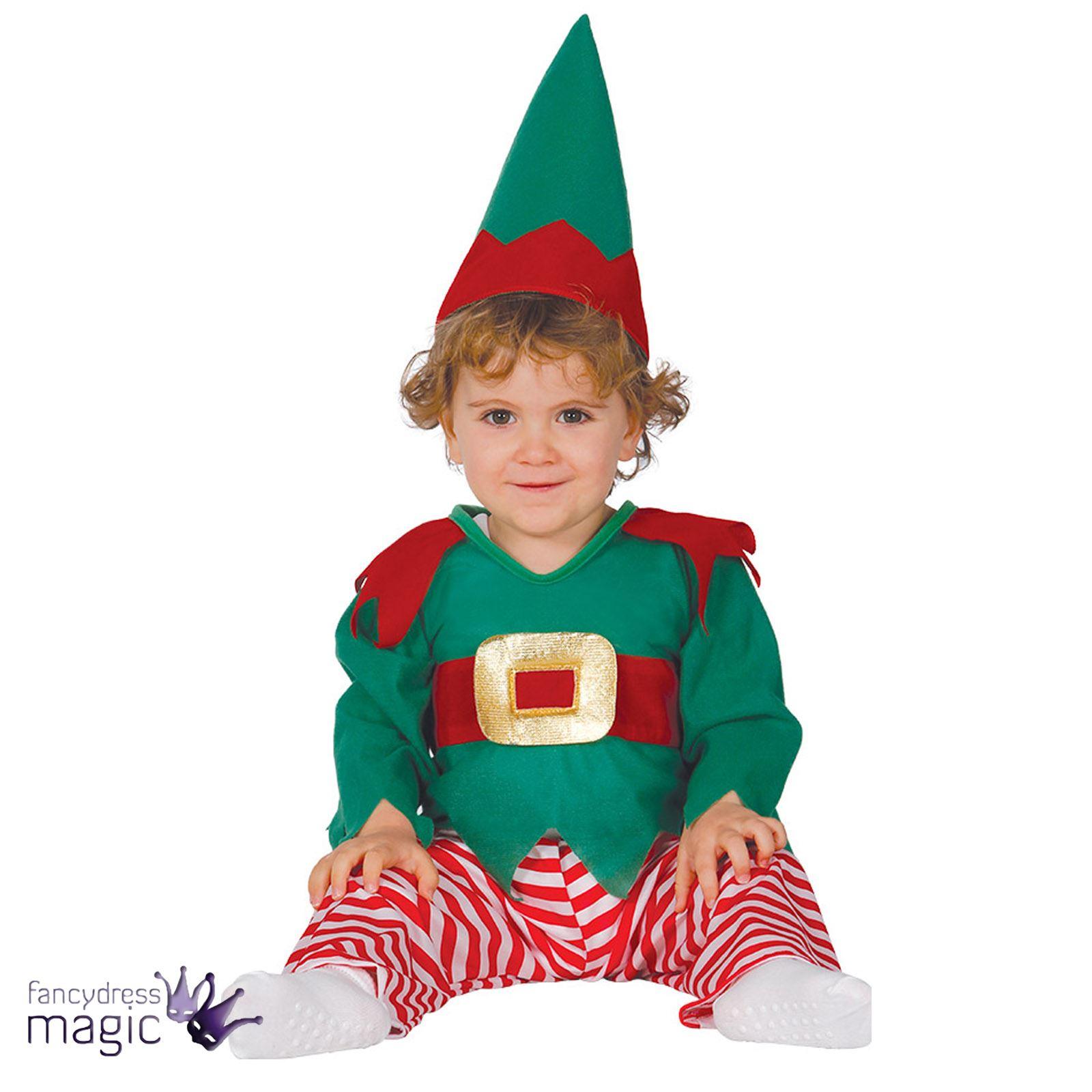 Baby Toddler Boys Christmas Xmas Elf Santas Helper Fancy Dress