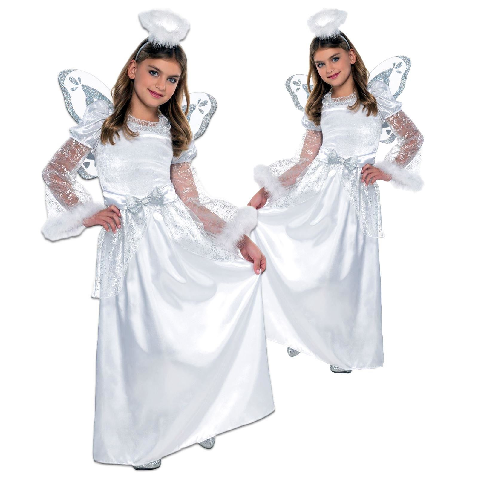 13ab68054 *Girls Deluxe Nativity Play Christmas Angel Gabriel Fancy Dress Costume  Outfit*