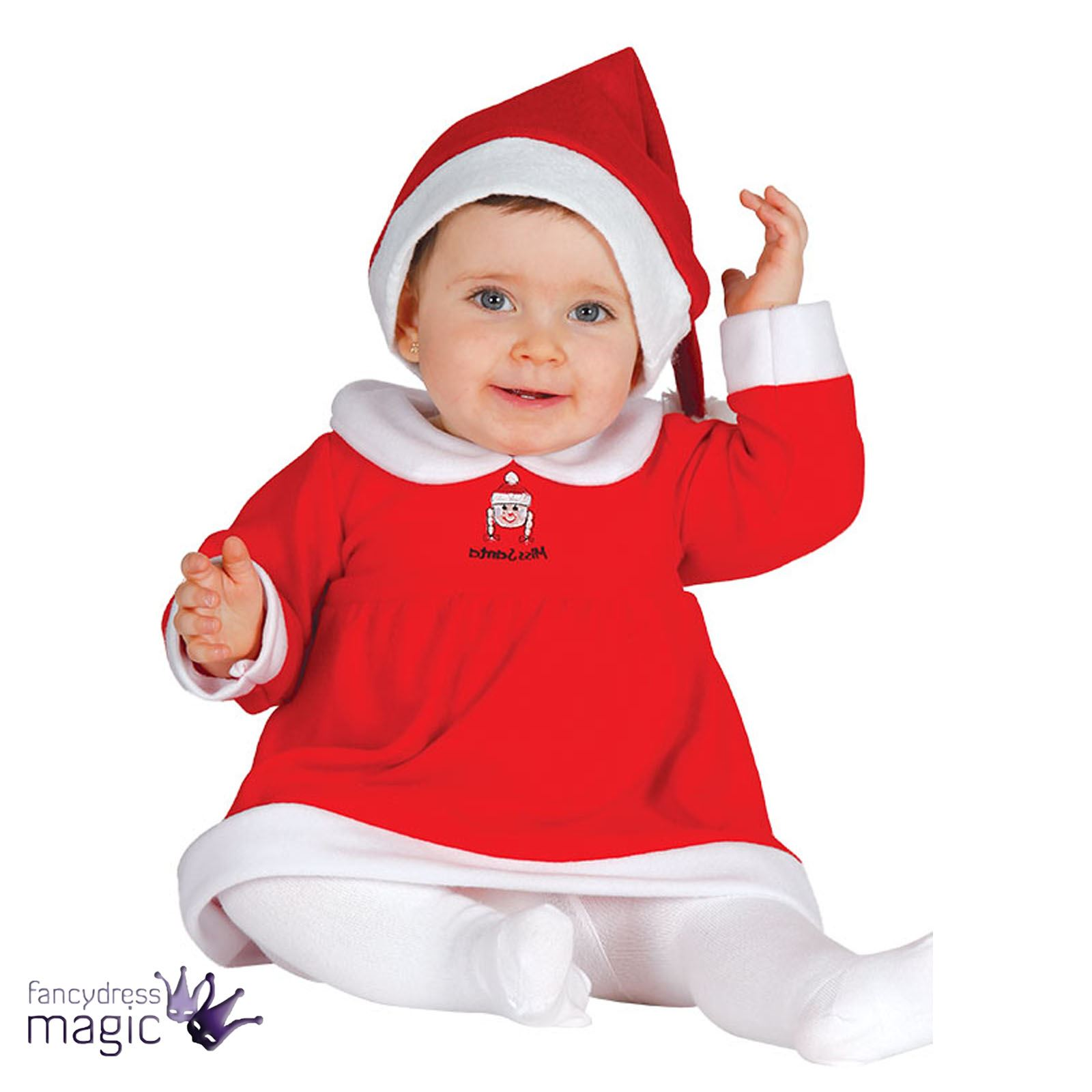 Baby Toddler Girls Miss Santa Christmas Xmas Fancy Dress Costume Hat