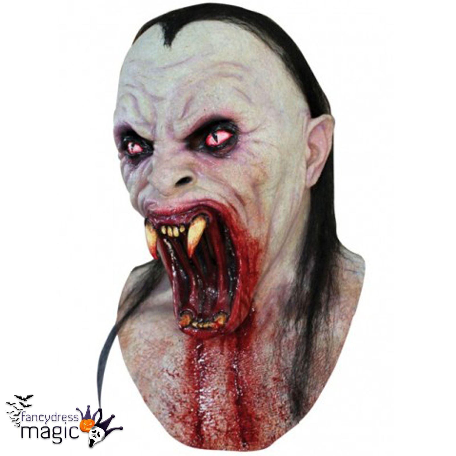 Viper Snake Demon Fangs Halloween Horror Latex Full Head &amp ...