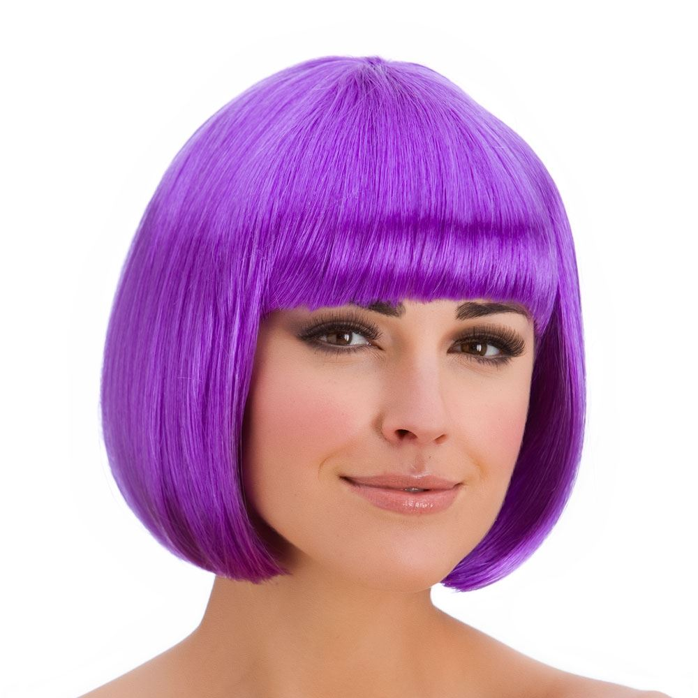 Ladies Diva Short Hair Bob Wig Fringe Fancy Dress Hollywood 80s ...