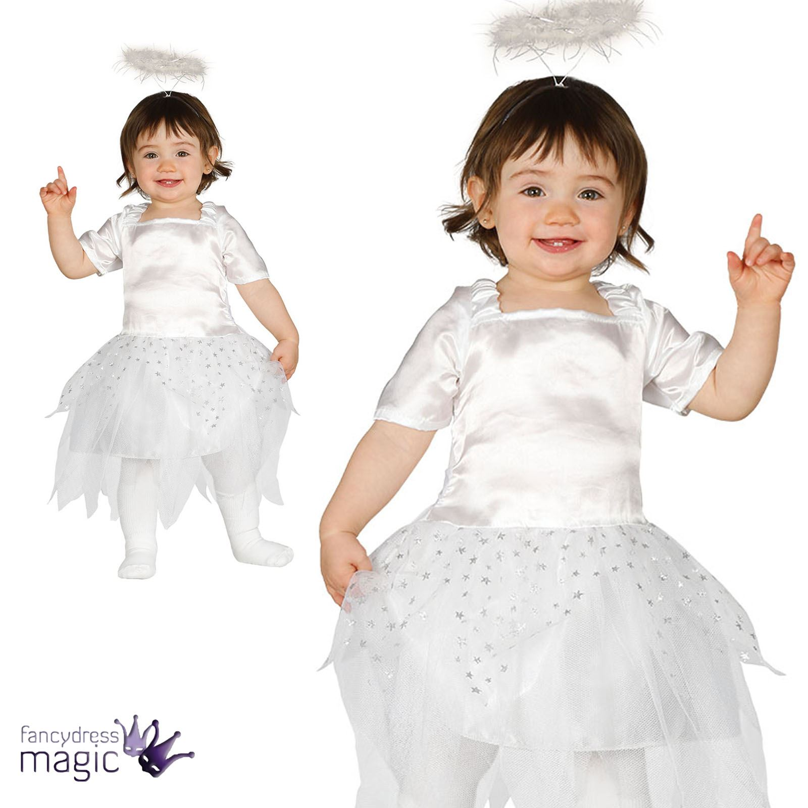 Baby Toddler Christmas Xmas Angel Fairy Fancy Dress Costume Outfit
