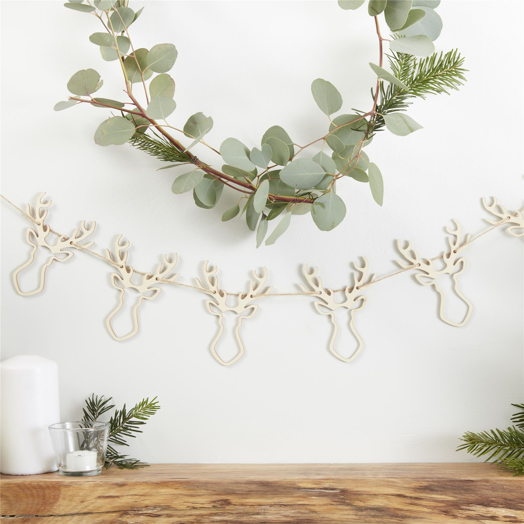 Ginger Ray Rustic Nordic Christmas Xmas Natural Giftwrap Decorations ...